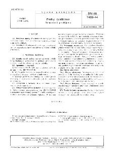 Farby graficzne - Oznaczanie przebijania BN-88/7469-44