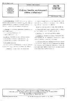 Zrębnice kanałów wentylacyjnych statków śródlądowych BN-78/3787-06