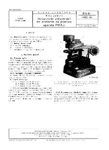Farby graficzne - Oznaczanie odporności na ścieranie za pomocą aparatu PIRA'y BN-91/7469-45