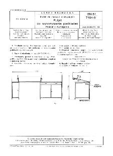 Meble do maszyn drukujących - Pulpit do wykonywania podkładek - Podział i wymagania BN-81/7484-01
