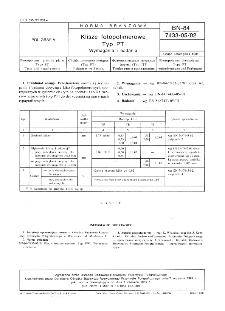 Klisze fotopolimerowe - Typ PT - Wymagania i badania BN-84/7433-05/02