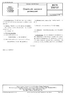 Odwietrzniki naścienne pomieszczeń BN-78/3787-07