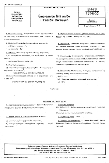 Smarownice linii wałów i trzonów sterowych BN-78/3795-02