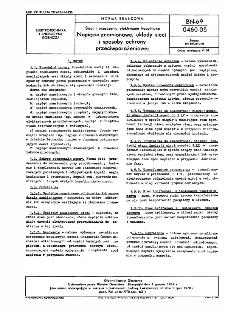 Sieci i urządzenia elektryczne kopalniane - Napięcia znamionowe, układy sieci i sposoby ochrony przeciwporażeniowej BN-69/0460-05