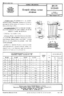 Grzejniki stalowe rurowe okrętowe BN-79/3723-03
