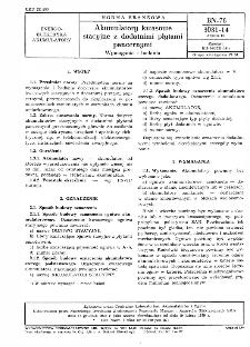 Akumulatory kwasowe stacyjne z dodatnimi płytami pancernymi - Wymagania i badania BN-78/3031-14 Arkusz 00