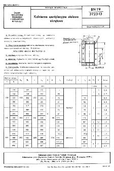 Kołnierze wentylacyjne stalowe okrętowe BN-79/3723-13