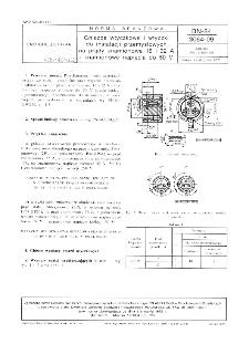 Gniazda wtyczkowe i wtyczki do instalacji przemysłowych na prądy znamionowe 16 i 32 A i znamionowe napięcia do 50 V BN-84/3064-09