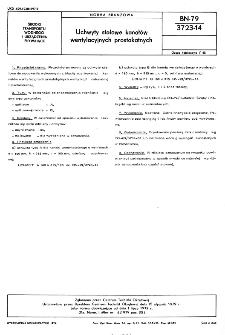 Uchwyty stalowe kanałów wentylacyjnych prostokątnych BN-79/3723-14