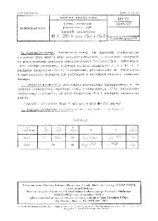 Łączniki instalacyjne powszechnego użytku - Łączniki szczękowe 10 A, 250 V typu ŁSz1 i ŁSz2 BN-75/3065-07