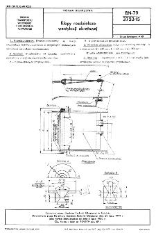 Klapy rozdzielcze wentylacji okrętowe BN-79/3723-15
