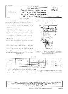 Sprzęt elektroinstalacyjny - Gniazda bezpiecznikowe ścienne i szynowe na prądy znamionowe do 63 A i napięcie znamionowe 380 V prądu przemiennego BN-78/3066-20