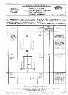Obrabiarki do drewna - Traki pionowe jednopoziomowe dwukorbowodowe - Sprawdzanie dokładności BN-80/1615-17