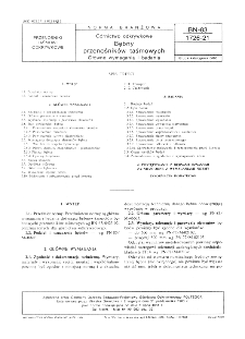 Górnictwo odkrywkowe - Bębny przenośników taśmowych - Główne wymagania i badania BN-83/1726-21
