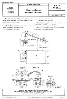 Klapy regulacyjne wentylacji okrętowej BN-79/3723-16