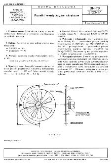 Rozetki wentylacyjne okrętowe BN-79/3723-17