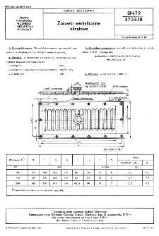 Zasuwki wentylacyjne okrętowe BN-79/3723-18
