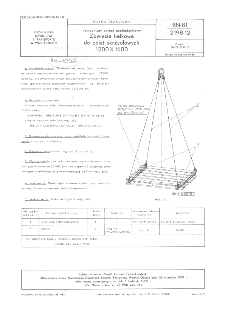 Pomocniczy sprzęt przeładunkowy - Zawiesie belkowe do palet skrzydłowych 1200x1600 BN-81/2198-12
