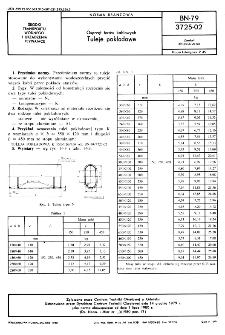 Osprzęt torów kablowych - Tuleje pokładowe BN-79/3725-02
