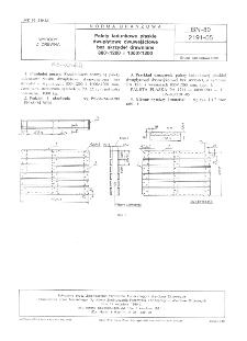 Palety ładunkowe płaskie dwupłytowe dwuwejściowe bez skrzydeł drewniane 800x1200 i 1000x1200 BN-80/2191-05