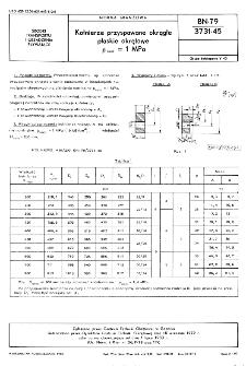 Kołnierze przyspawane okrągłe płaskie okrętowe pnom=1 MPa BN-79/3731-45