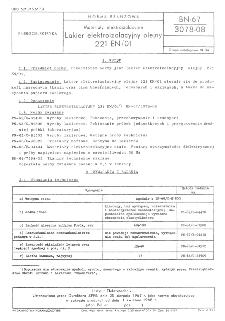 Lakier i emalie elektroizolacyjne poliuretanowe do pokrywania uzwojeń maszyn i aparatów elektrycznych - Wymagania i badania techniczne BN-67/3078-07