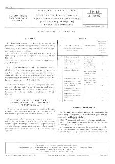 Urządzenia komputerowe - Dopuszczalne wartości skorygowanego poziomu mocy akustycznej i metody jego określania BN-86/3110-03