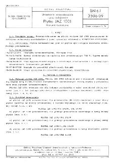 Urządzenia zabezpieczenia ruchu kolejowego - Płytka JAZ 1001 - Warunki techniczne BN-67/3506-09