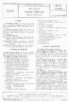 Tabor kolejowy - Instalacje elektryczne - Rodzaje i określenia BN-70/3512-08