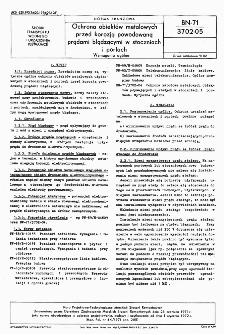 Ochrona obiektów metalowych przed korozją powodowaną prądami błądzącymi w stoczniach i portach - Wymagania ogólne BN-71/3702-05