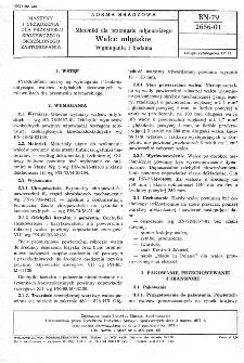 Mlewniki dla przemysłu młynarskiego - Walce młyńskie - Wymagania i badania BN-79/2656-01