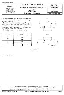 Urządzenia sczepiające zestawów pchanych - Zderzaki - Rozstawy i szerokości BN-80/3782-20