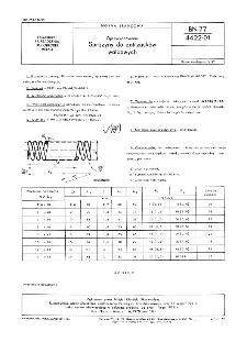 Oprzyrządowanie - Sprężyny do zatrzasków walcowych BN-77/4422-01