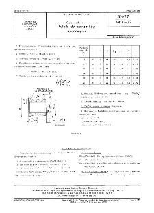 Oprzyrządowanie - Tulejki do zatrzasków walcowych BN-77/4422-02