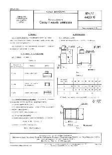 Oprzyrządowanie - Czopy i wpusty ustalające BN-77/4423-10