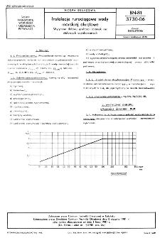 Instalacje rurociągowe wody morskiej okrętowe - Wytyczne doboru grubości ścianek rur stalowych ocynkowanych BN-81/3730-06