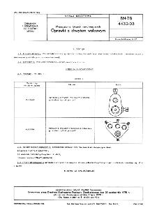 Wyposażenie tokarek rewolwerowych - Oprawki z chwytem walcowym BN-78/4432-03