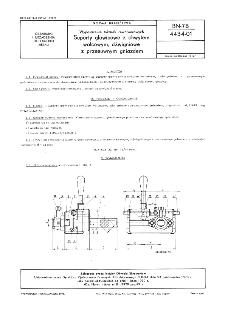 Wyposażenie tokarek rewolwerowych - Suporty głowicowe z chwytem walcowym, dźwigniowe z przesuwnym gniazdem BN-78/4434-01