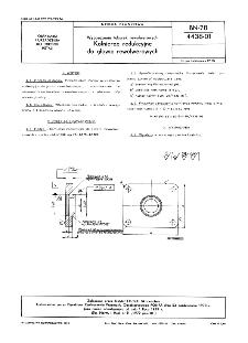 Wyposażenie tokarek rewolwerowych - Kołnierze redukcyjne do głowic rewolwerowych BN-78/4438-01