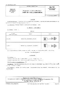 Wyposażenie tokarek rewolwerowych - Imaki do noży przecinaków BN-78/4441-01