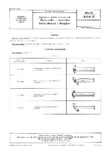 Wyposażenie tokarek rewolwerowych - Wytaczadła z gniazdem kwadratowym i okrągłym BN-78/4454-01