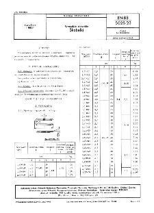 Gwoździe stolarskie - Skobelki BN-83/5028-23