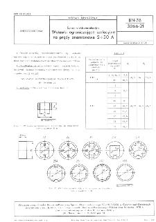Sprzęt elektroinstalacyjny - Wstawki ograniczające izolacyjne na prądy znamionowe 2÷50 A BN-78/3066-21