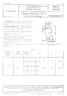 Sprzęt elektroinstalacyjny - Wkładki topikowe na prądy znamionowe do 63 A i napięcie znamionowe 380 V prądu przemiennego BN-78/3066-22