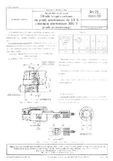 Sprzęt elektroinstalacyjny - Główki bezpiecznikowe na prądy znamionowe do 63 A i napięcie znamionowe 380 V prądu przemiennego BN-78/3066-23