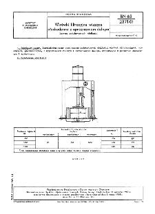 Wirówki filtracyjne wiszące płaskodenne z opróżnianiem dolnym - Szereg podstawowych wielkości BN-63/2371-01