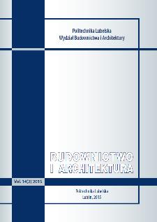 Budownictwo i Architektura Vol. 14(2)2015