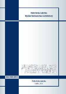 Budownictwo i Architektura Vol. 14(3)2015
