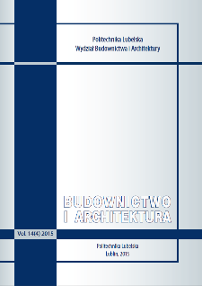 Budownictwo i Architektura Vol. 14(4)2015