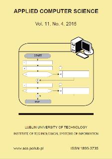 Applied Computer Science Vol. 11, No 4, 2015